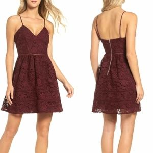 BB Dakota Sutton Lace Fit and Flare Mini Dress 8